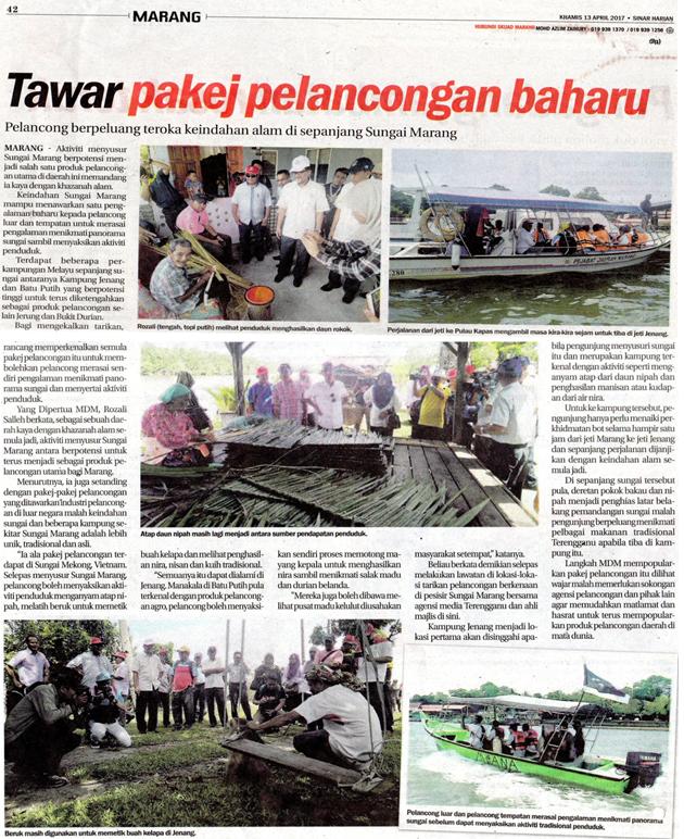 Program Menyusuri Sungai Marang YDP Bersama Media